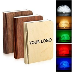 Rechargeable Home Decoration Folding Book Colorful LED Light